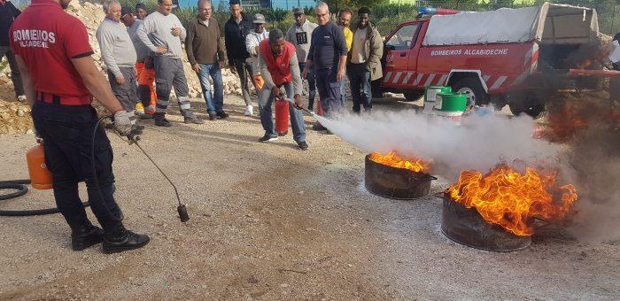 Bombeiros de Alcabideche ministram formação a empresas municipais
