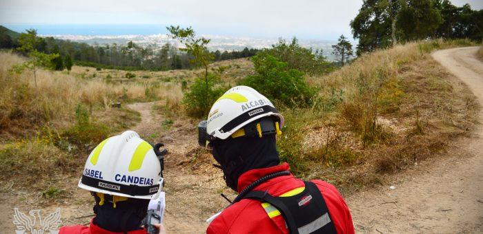 Exercício de combate a Incêndio Rural em época COVID